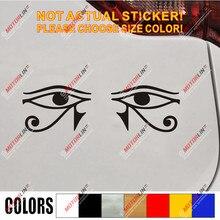Occhio di Horus Egitto Decal Sticker Egiziano Simbolo di Dio Dell'automobile Del Vinile scegli la tua taglia di colore g