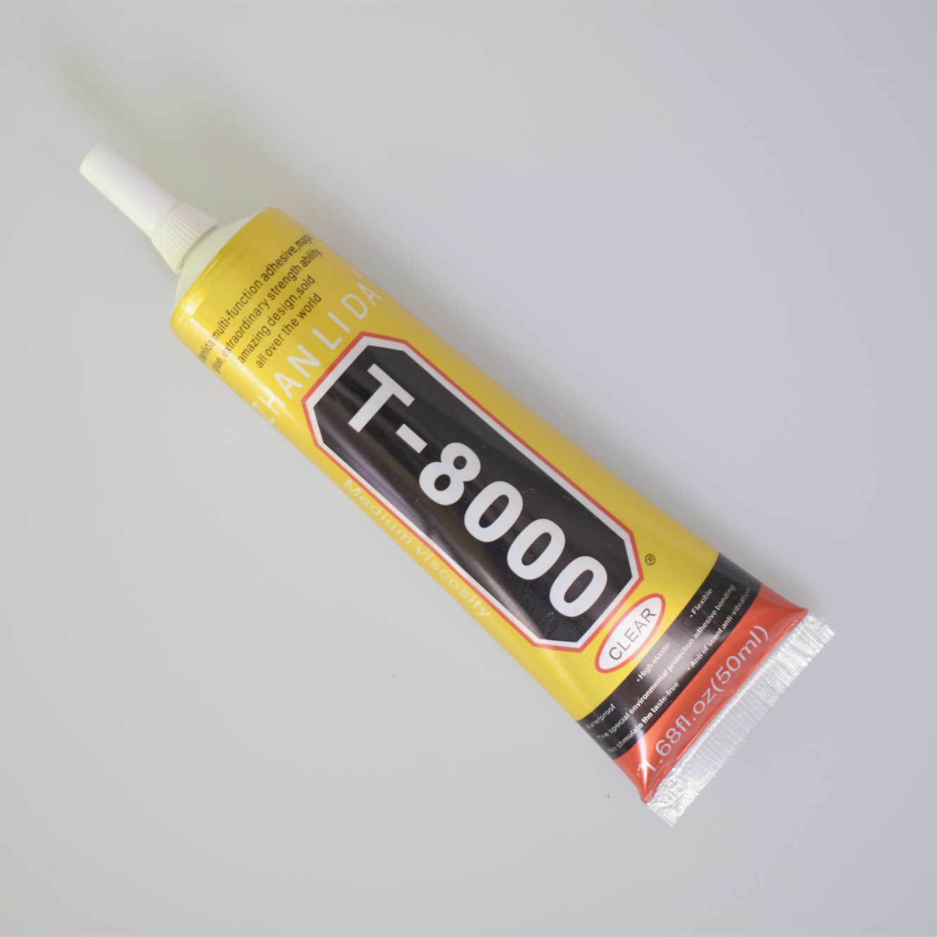 1 Pcs 50ml T-8000 Glue T8000 Multi Purpose Glue Adhesive Epoxy Resin Repair Cell Phone LCD Touch Screen Super Glue T 8000