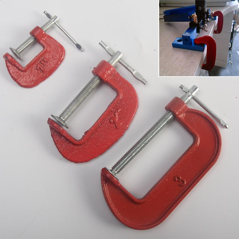 """1pc 1"""" /2''/3''Inch G Type Woodworking Clamp Clamping Device DIY Carpentry Gadgets Heavy Duty Steel G Clamp #63"""