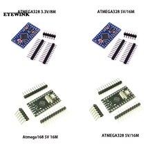 10 pçs/lote pro mini 168/328 atmega168 5v 16m/ATMEGA328P MU 328p mini atmega328 5v/16mhz para arduino compatível nano módulo