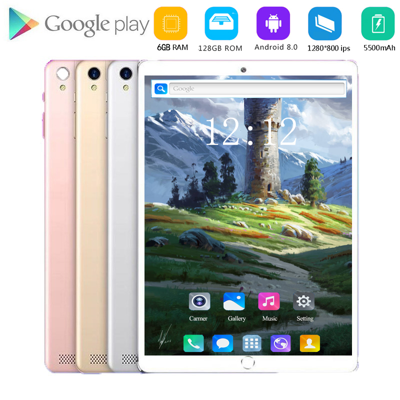 2020 CARBAYTA 2020 10.1 Inch Android 8.0 Octa Core 4G Call Tablet Pc 6GB + 128GB WiFi Laptop 4G LTE Phone Call Tab Pc Tablets 10