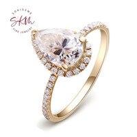 SKM Delicate rings for women 14k rose gold vintage brand designer Engagement rings designer Promise Luxury Fine Jewelry
