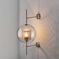 Industrial Style Retro Wall Light Vintage Creative Concise Glass Light Kitchen Restaurant Loft Led Wall Sconce Free Shipping