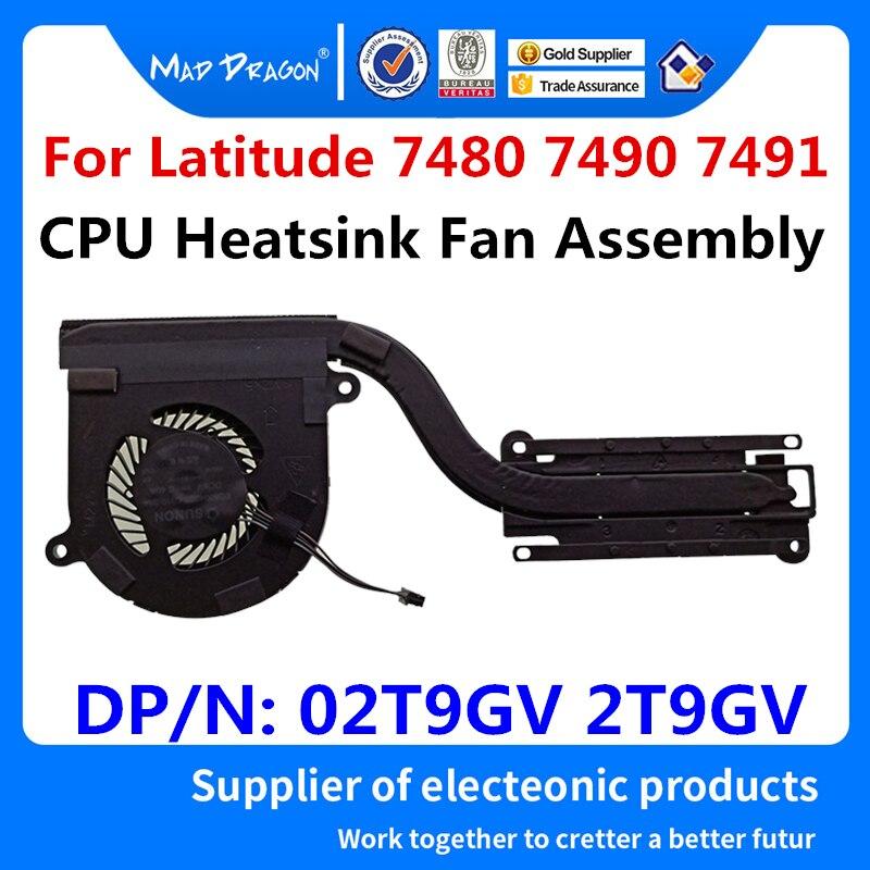 Conjunto do Ventilador do Dissipador de Calor da Cpu para Intel Uma para Dell Original Novo Graphics Latitude 7490 7491 E7480 E7490 E7491 02t9gv 2t9gv 7480