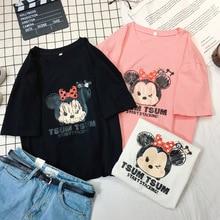 2020 summer women tshirt short sleeve t-shirt cartoon Mickey Minnie children Little girl shirt