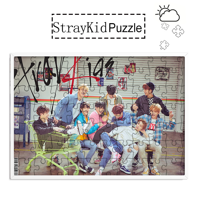 KPOP Stray Kids Puzzle 120 Piece Photo Frame Official Same Paragraph Dropshipping
