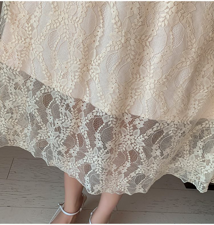2020 Maternity clothing summer twinset lace maternity one-piece dress white embroidery maternity dress For Pregnant (20)