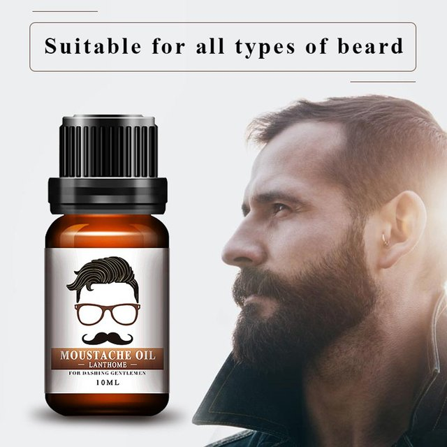 1pc Men Natural Organic Styling Moustache Oil Moisturizing Smoothing Dashing Gentlemen Beard Oil Face Hair Care Top Quality 3