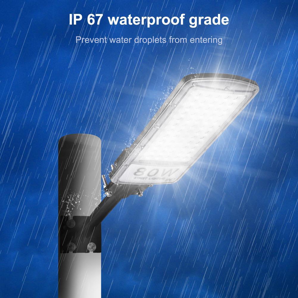 1 pièces 80W lampadaire Led étanche IP67 220V Led lampadaire route jardin lampe lumière blanche Led spots applique murale blanc froid