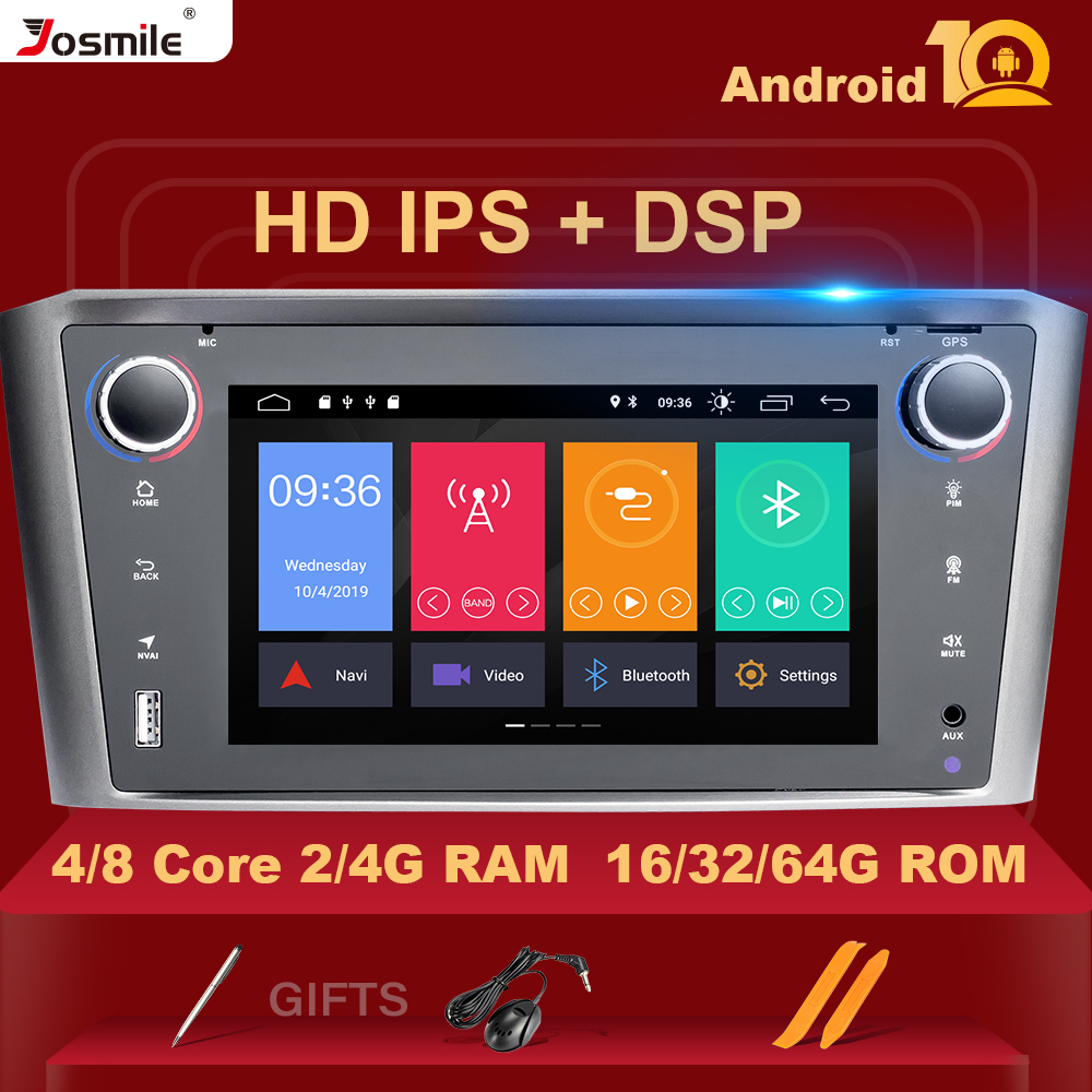 DSP IPS 4G 64G 8Core <font><b>Android</b></font> 10 Car navigation Multimedia For <font><b>Toyota</b></font> Avensis <font><b>T25</b></font> 2002-2008 GPS stereo audio radio no dvd player image
