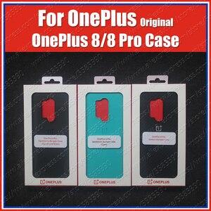 Image 2 - Cyaan Officiële Verzegelde Oneplus 8 Pro Case Originele IN2020 Carbon Bumper Oneplus 8 Case IN2010 Clear Zandsteen Carbon Nylon Cover