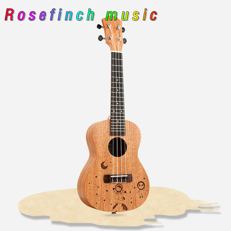 Hot Sale 23 Inch Concert Ukulele 4 Nylon String Hawaiian Sapele Mini Acoustic Guitar Uku Guitar Ukelele White Mahogan UK2309