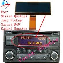 Samochodu radioodtwarzacz cd ekran LCD wyświetlacz piksel naprawa dla Nissan Qashqai x trail granicy uwaga Juke Dualis Navara Suzuki równika