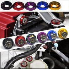 O estilo universal de jdm da arruela do para-choque dos pces 10 cabe algum motor dos pára-choques do furo de 6mm veste acima arruelas de alumínio da placa de licença com parafusos