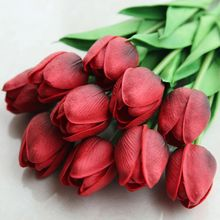 High-grade single imitation tulip foreign trade wedding holiday flower home decoration