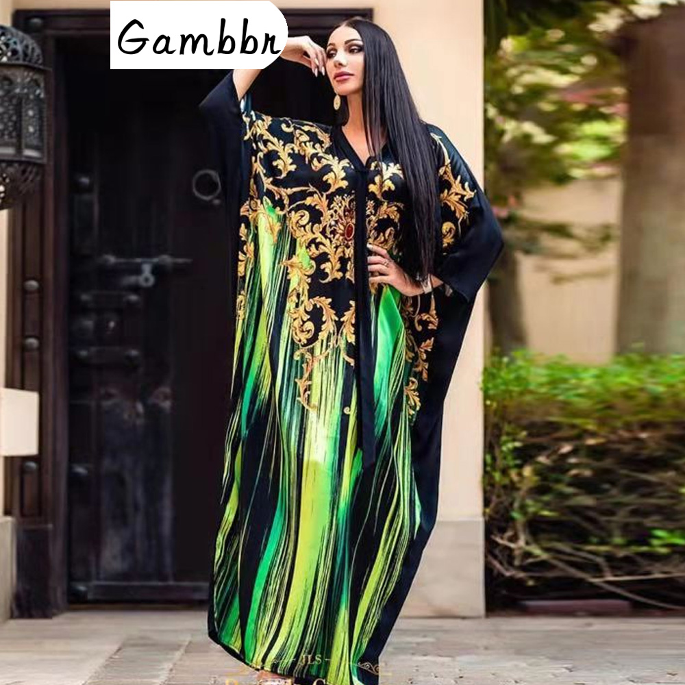 Autumn Winter African Dresses For Women 2019 News Fashion Robe Long Maxi Dress Floral Print Bazin Vestidos Dashiki Party Clothes