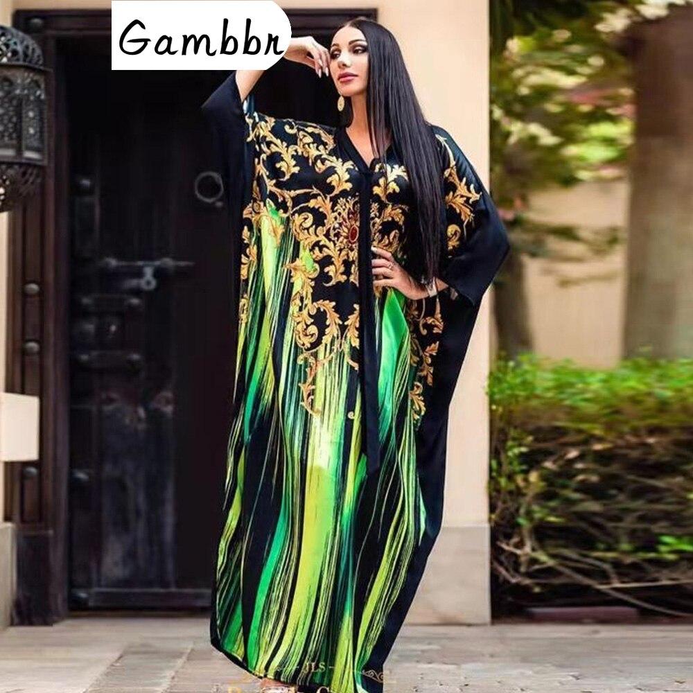 Autumn Winter African Dresses For Women 2019 News Fashion Robe Long Maxi Dress Floral Print Bazin Vestidos Dashiki Party Clothes