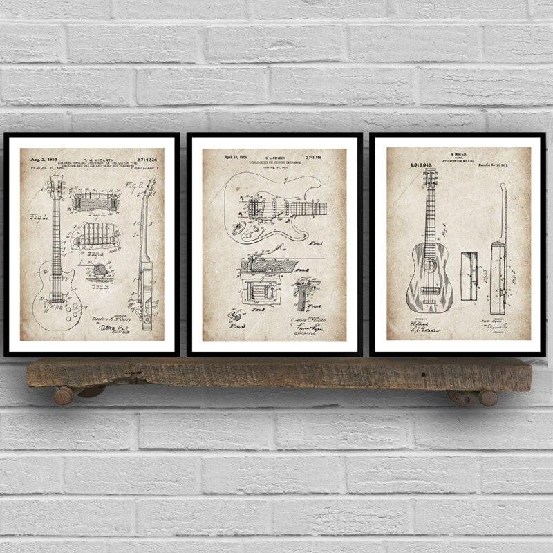 G Vintage Music Art Print Home Decor Wall Art Poster