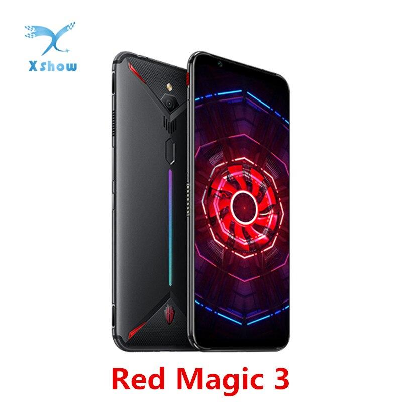 "EU Version Nubia Red Magic 3 Mobile phone 6.65"" Snapdragon 855 Fingerprint Front 48MP Rear 16MP 8GB 128GB 5000mAh Game PhoneCellphones   -"