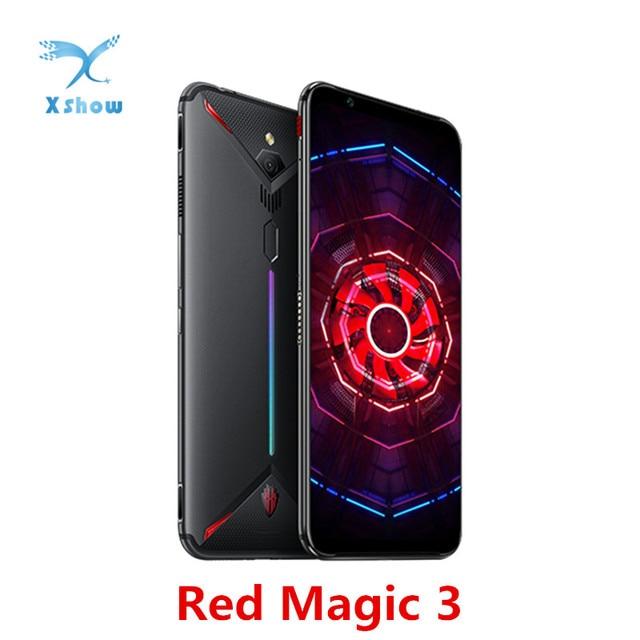 """Versione di UE Nubia Magia Rossa 3 del telefono Mobile 6.65 """"Snapdragon 855 di Impronte Digitali Anteriore 48MP Posteriore 16MP 8GB 128GB 5000mAh Telefono Gioco"""