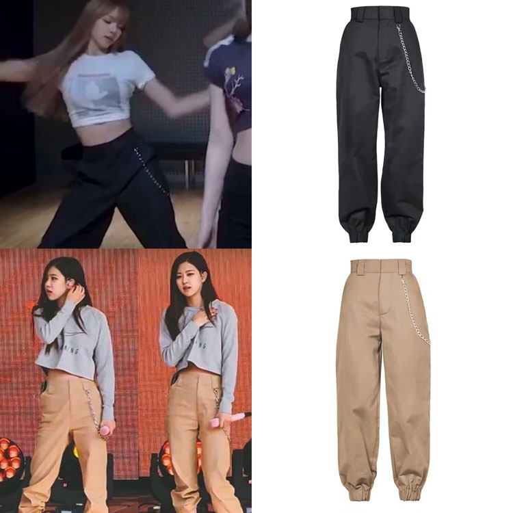 Kpop BLACKPINK Female Spring New Practice Room Casual Trousers Women Loose Fashion Streetwear Harajuku Pants Joggers Sweatpants