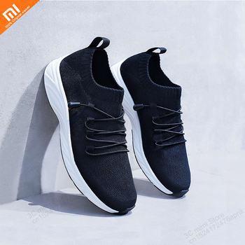 Original xiaomi mijia light free tie casual shoes fly woven breathable double non-slip couple sports shoes smart