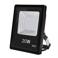 2 pièces 220V blanc chaud 20W rectangulaire spot SMD3030 haute luminosité étanche lampe à économie d'énergie lumière du projecteur à Led