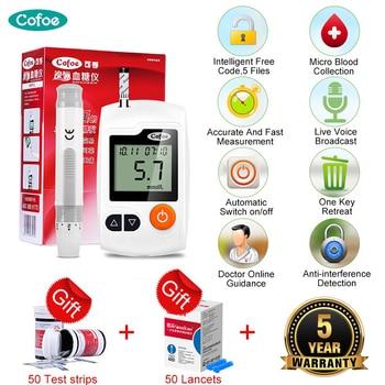 цена на Cofoe Yili Glucometer Medical Glucose Meter Blood Sugar Monitor Diabetes Tester with 50/100pcs Test Strips & Lancets Needles