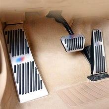 Carro antiderrapante acclerator pedal de freio proteção capa para bmw 5 7 series gt z4 x3 x4 f01 f07 f10 f25 f26 e89 acessórios do carro