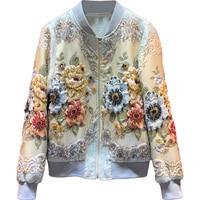2019 New Designer Custom Made Autumn Winter Outwear Jackets Women's Vintage Gold Line Jacquard Beading luxury Tops Coat Jackets