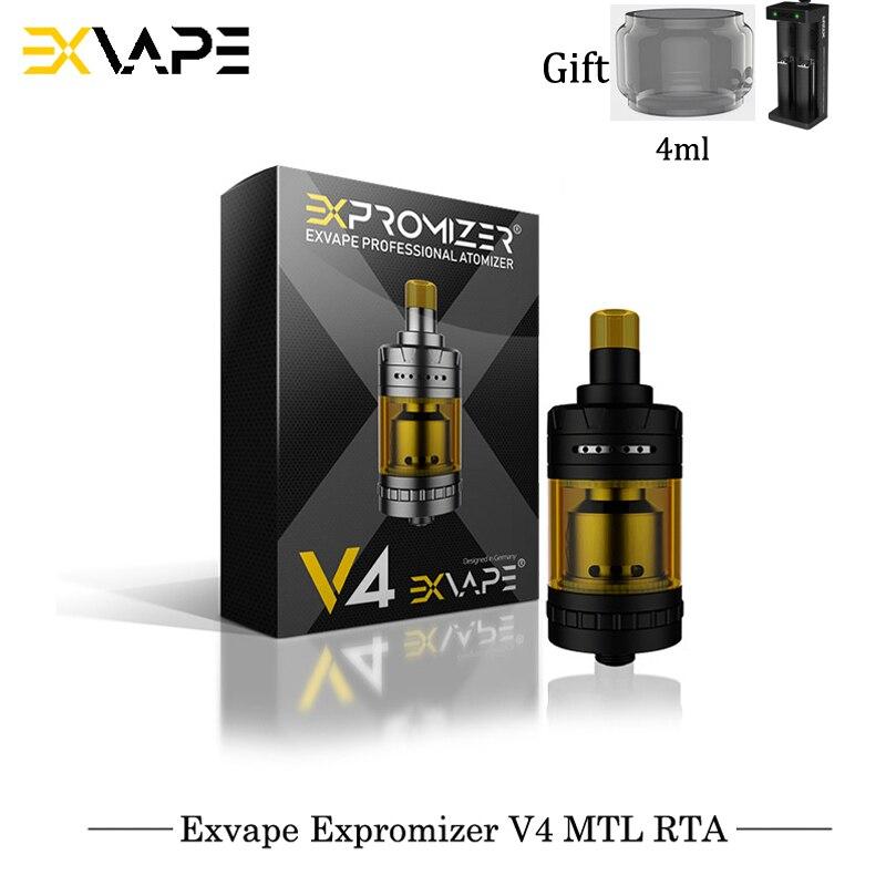 Original Exvape Expromizer V4 MTL RTA 23mm 2ml Capacity Single Coil Electronic Cigarettes RTA VS Geekvape