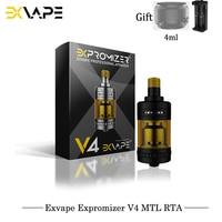 Original Exvape Expromizer V4 MTL RTA 23mm 2ml Capacity Single Coil Electronic Cigarettes RTA VS Geekvape Zeus X Oumier Wasp RTA