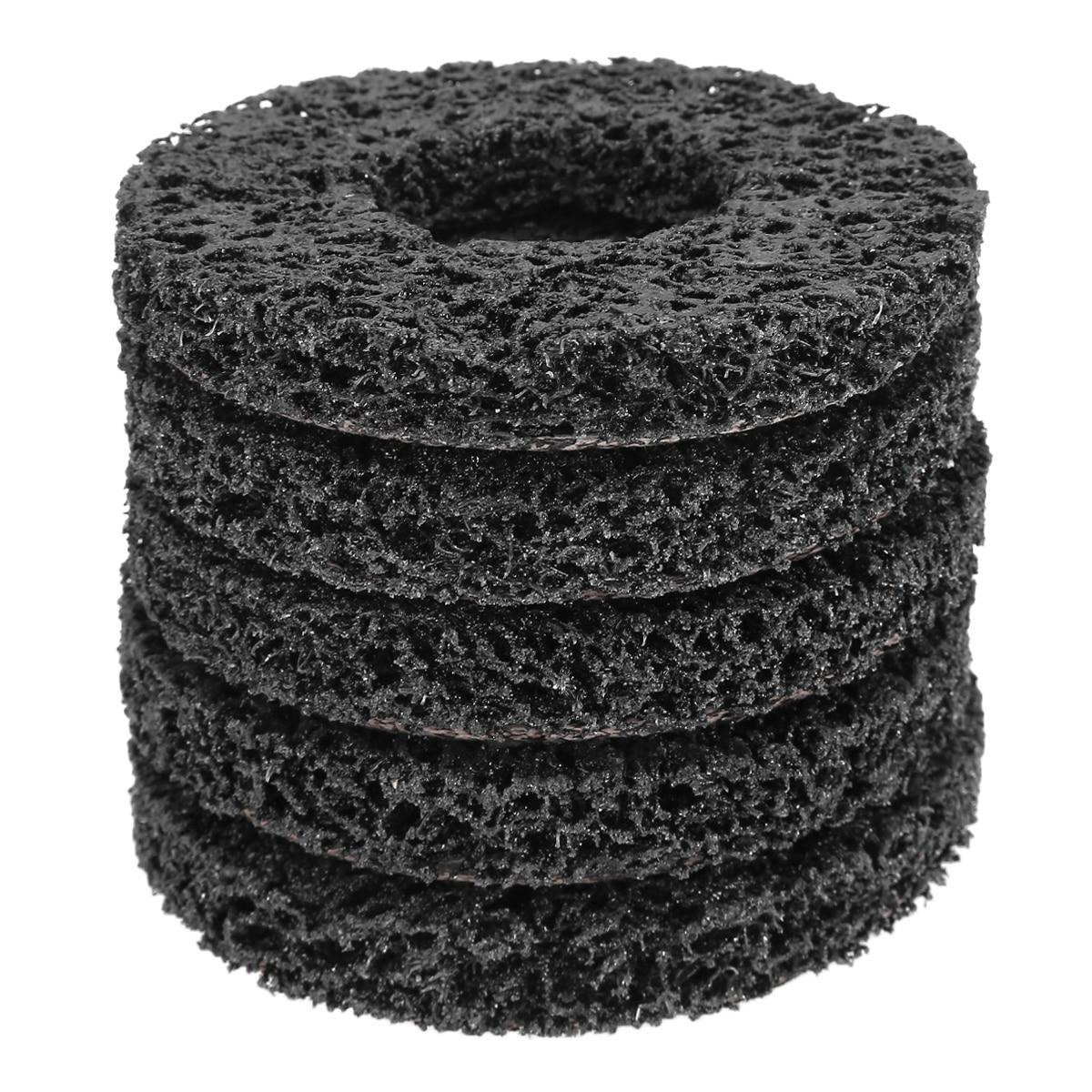 5Pcs Strip Disc Grit Polishing Grinding Wheel Pad Angle Grinder Car Paint Rust Clean Abrasive Angle Grinding Wheel