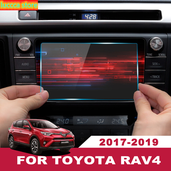 7/8 inch for Toyota RAV4 RAV 4 2019, car accessories, steel inner material for GPS navigation screen, LCD protective film image
