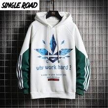 SingleRoad männer Hoodies Männer 2020 Winter Seitlichem Striped Übergroßen Sweatshirt Männlichen Hip Hop Japanischen Street Weiß Hoodie Männer