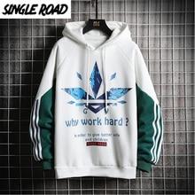 SingleRoad sweat shirt dhiver pour homme, surdimensionné avec rayures sur le côté, style Hip Hop japonais, Streetwear, collection sweat à capuche pour homme, 2020
