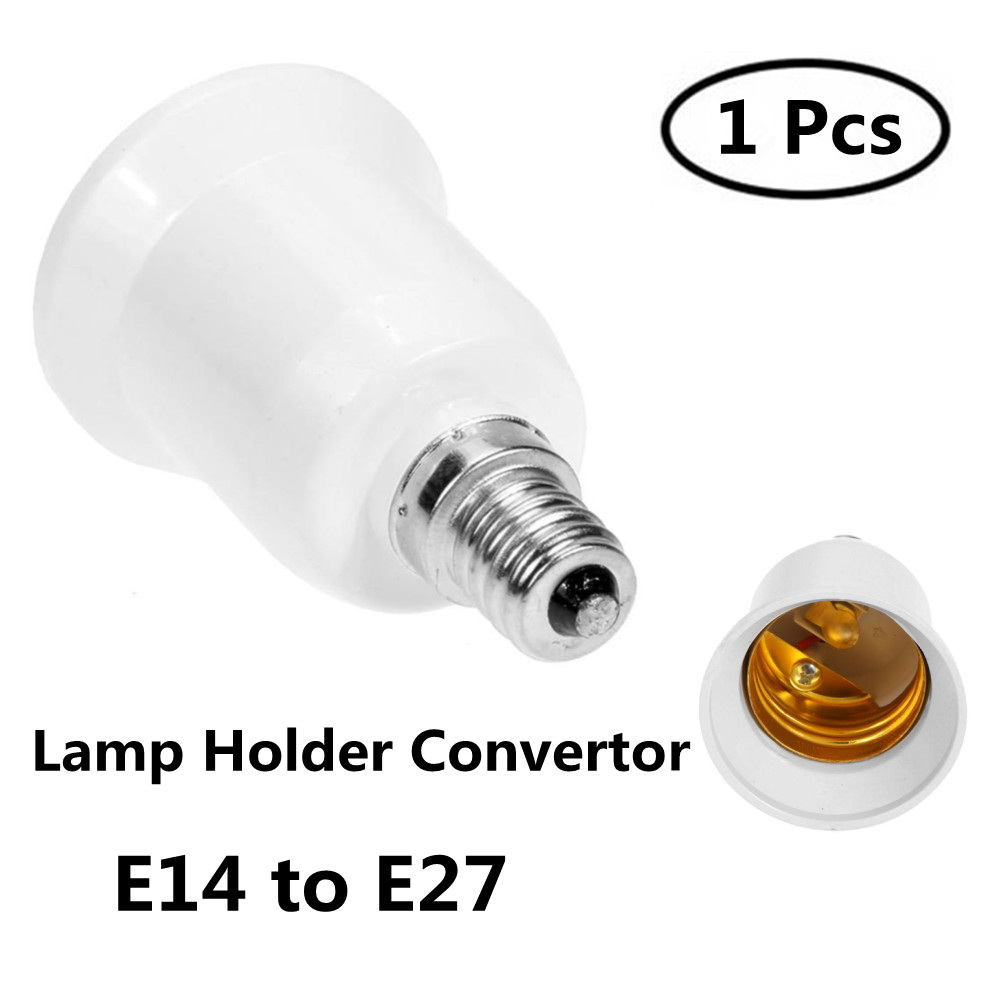 1pcs Lamp Holder Converter E14 TO E27 Adapter Conversion Socket High Quality Material Fireproof Socket Adapter Lamp Holder