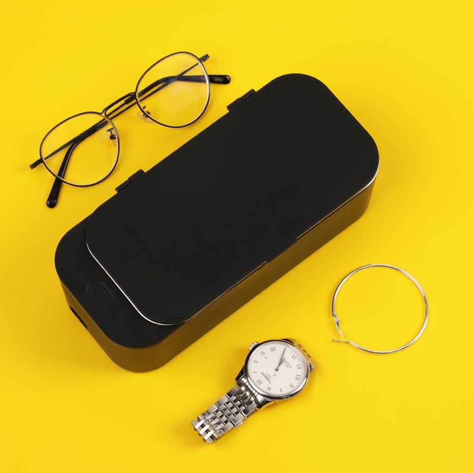 Mini Ultrasonic Cleaner 450ml 40kHz 15W Jewelry Glasses Cleaning Machine Intelligent Control Ultrasonic Cleaner Bath
