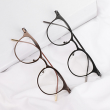 Optical-Glasses Frame Women Round-Frame Metal Ultra-Light Vintage Fashion Cute New-Design