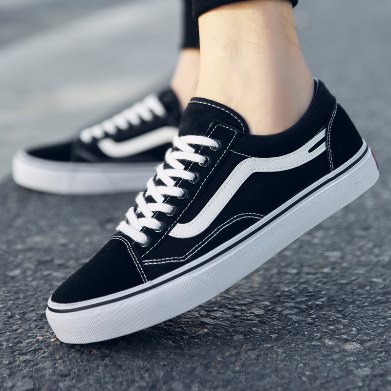 2020 Black And White Canvas Shoe Schoolgirl Ulzzang Unisex Couple's Style Shoe Ins Shoes Woman S Streetwear