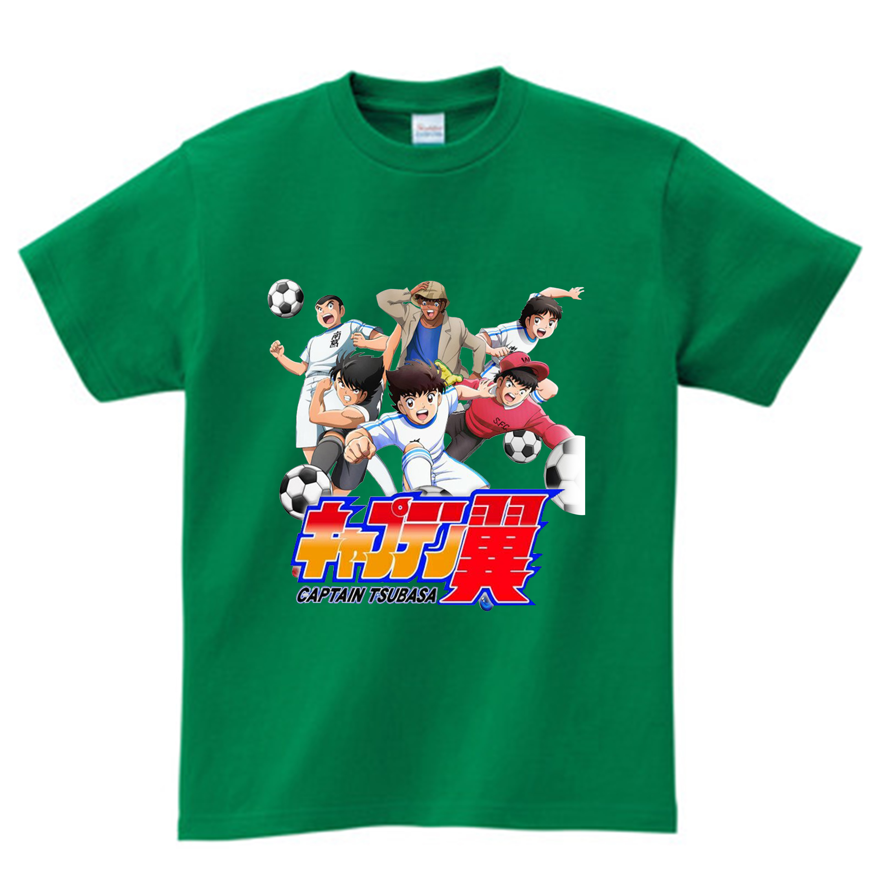 Anime Captain Tsubasa T Shirt Children Summer Leisure Short Sleeve t shirt Boy Football Motion T-shirts For Boys Girls Top 3T-9T 3