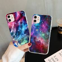 space starry sky planets Phone Case For iphone 5s 6 7 8 11 12 plus xsmax xr pro mini se Transparent Cover Fundas Coque