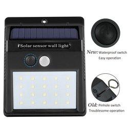 20/30 led luz de energia solar pir sensor de movimento solar luzes do jardim ao ar livre à prova dwaterproof água parede poupança energia lâmpadas quintal