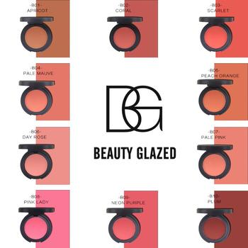 Beauty Glazed Blush Natural Lasting Silty Silky Smooth Foundation Pearlescent Matte Shiny Color Blush Rouge Powder Cake TSLM1 power look diorskin rouge blush
