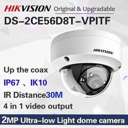 DS-2CE56D8T-VPITF 2MP bardzo słabe oświetlenie Dome kamera telewizji przemysłowej IP67  IK10 turbo HD kamera ochrony IR 30m