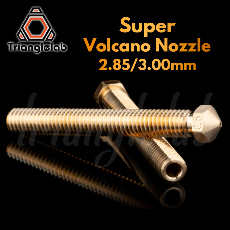 Trianglelab Super Volcano Nozzle 2.85/3.0MM Filament Large Flow 3D Pinter For Super Volcano Hotend Large Flow Brass Nozzle