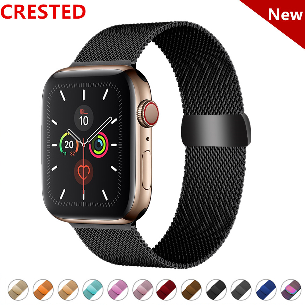Milanese Loop Strap For Apple Watch Band Pulseira Apple Watch 4 5 3 Band 44mm/40mm Iwatch 5 42mm 38mm Correa Watchband Bracelet