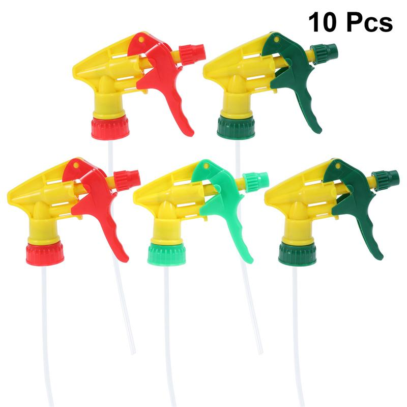 10 Pcs Spray Bottle Trigger Replacement Spray Nozzles Thicken Sprayer Replacement Trigger Spray Tops Spray Heads (Random Color)-0
