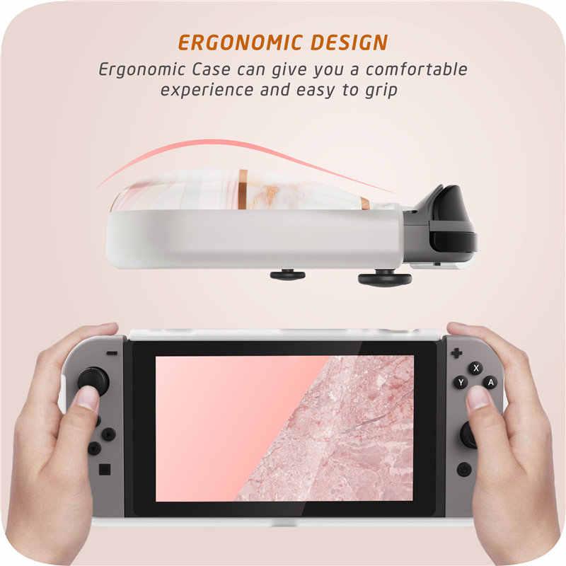 Pour Nintendo Switch Case Mumba fille puissance souple housse de poignée en TPU pour Nintendo Switch Console avec Absorption des chocs et anti-rayures