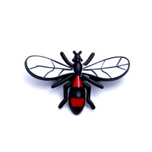 Vintage Red Black White Bee Insect Metal Pin Brooches for Women Men Shirt Blouse Collar Enamel Pins Bag Hat Womens Accessories(China)